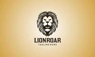 Roar Lion Head Logo