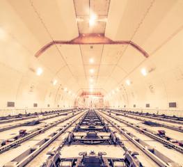 air cargo freighter - retro vintage filter effect - fototapety na wymiar