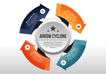 Arrows Around Circle Infographic 1