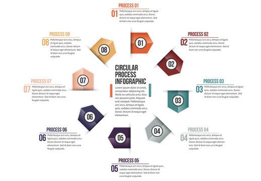 Triangular Tab Progress Infographic 6