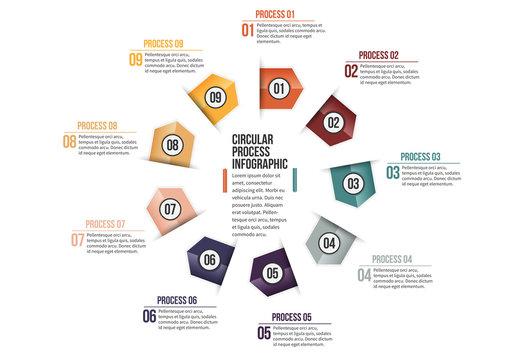 Triangular Tab Progress Infographic 7