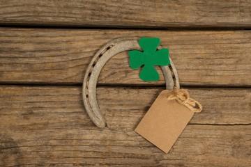 St Patricks Day horseshoe with empty tag