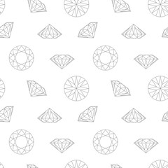 Diamond concept seamless pattern. Wrapping paper