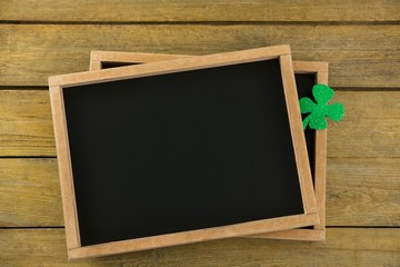 St Patricks Day shamrock on the slate