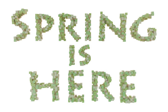 Spring. Spring theme quilling letter from quilling fonts collection. Hello spring.