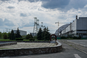 Chernobyl reactor, Exclusive last photo before the arch will be installed in a place