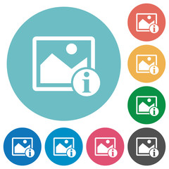 Image info flat round icons