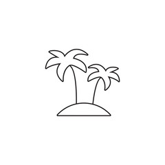 Palm line icon, outline vector illustration, linear pictogram isolated on white