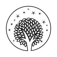 tree plant ecological icon vector illustration design