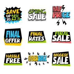 Sale super big collection label discount