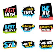 Sale super big collection label seasonal offer