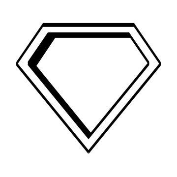 super hero shield pop art vector illustration design