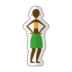 woman figure african icon vector illustration design
