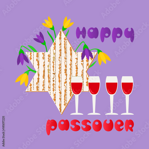 Happy passover fancy hand drawn letters greeting matzah for spring happy passover fancy hand drawn letters greeting matzah for spring pesach holiday celebration m4hsunfo