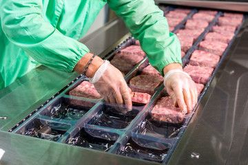 Raw meat production