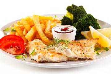 Frish dish - Roast cod with french fries
