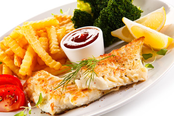 Frish dish - Roast cod with french fries