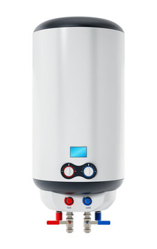 Water heater isolated on white background. 3D illustration
