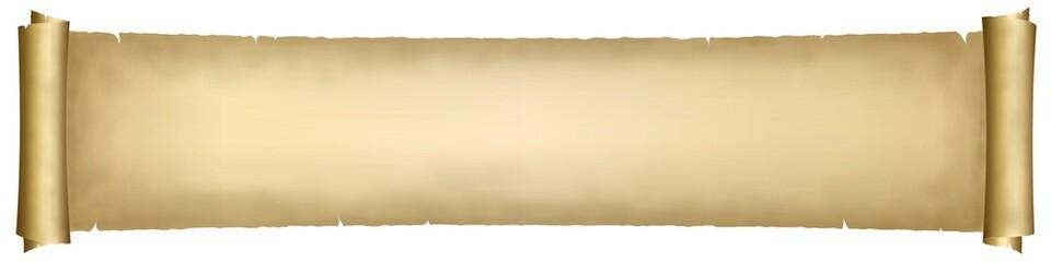 Bannière. Parchemin sur fond blanc #3