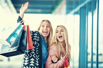 Beautiful Girls in Shopping