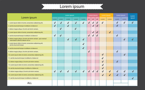 Business flat info-graphic template, schedule - vector illustration