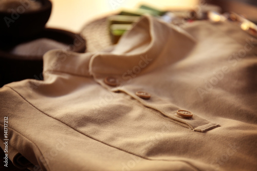 Spa uniform of masseur closeup immagini e fotografie for Spa uniform south africa