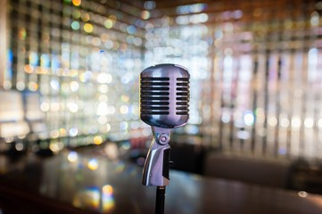 Microphone on an background