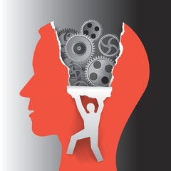 Psychology mental health concept.