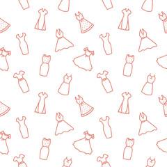 Dress Seamless Pattern Clothes