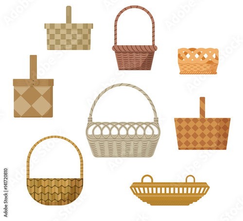 Basket Weaving Types : Quot set of baskets different colors and types