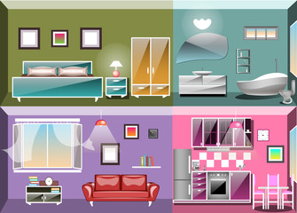 Set of interior design room .