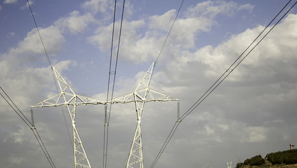 Iron electrical tower
