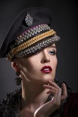 Beautiful portrait of a woman in a cap