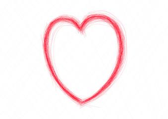 scratch heart hand drawn vector