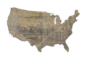 USA textured map