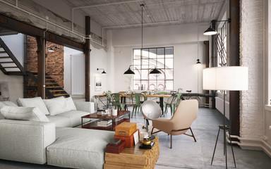modern luxury vintage Loft Apartment - Modernes Fabrik Loft