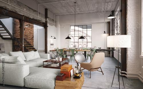 Modern luxury vintage loft apartment modernes fabrik loft