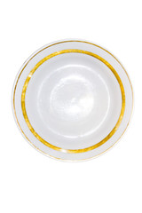 plate with gold frame