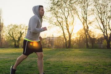 Man jogging at the park