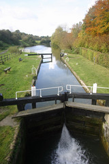Canal with lock