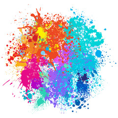 Photo sur Plexiglas Forme Color background of paint splashes