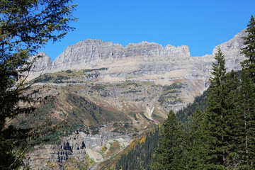 Wall Mural - Rugged Mountain in Glacier National Park