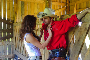 Love story in cowboy's style.