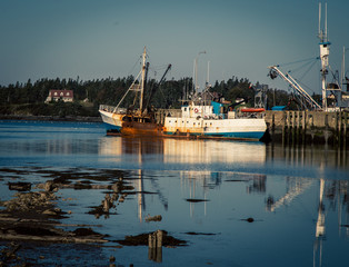 abandon fishing trawler