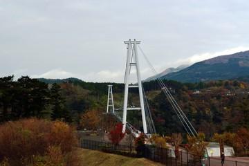 九重町の大吊橋と紅葉