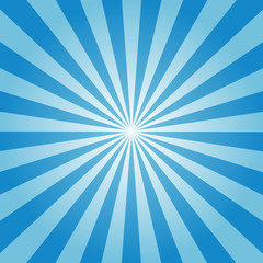 sunburst background blue color vector