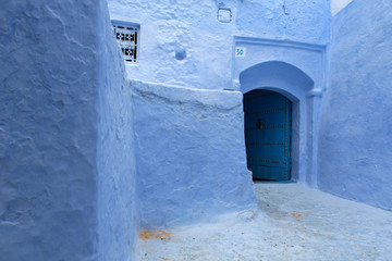 North Africa, Morocco,Chefchaouen district.Details of the city