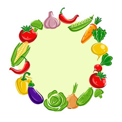 Vegetables background. Vector