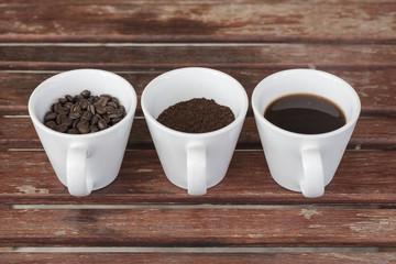Vintage hot coffee idea arrangement