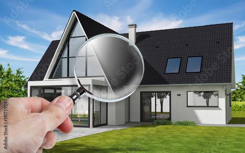 Présentation d\'une maison sur tablette avec zoom sur véranda\